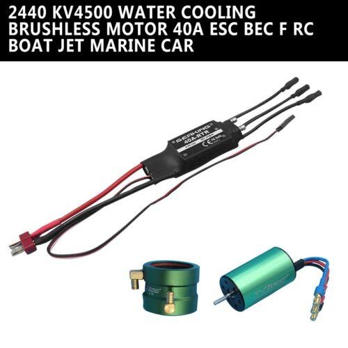Water Cooling Brushless Motor 40A ESC Set for RC Boat Jet Marine Car 2440 KV4500