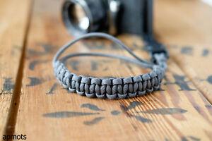 Camera-Wrist-Strap-Charcoal-Gray-Matte-Black-apmots-Paracord-Sling-Compact