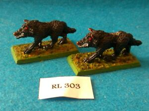 RPG/Rol AD&D, Pathfinder - 2 Lobos Gigantes - Metal RL303