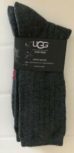 UGG-Crew-Socks-Grey-Size-8-12-5