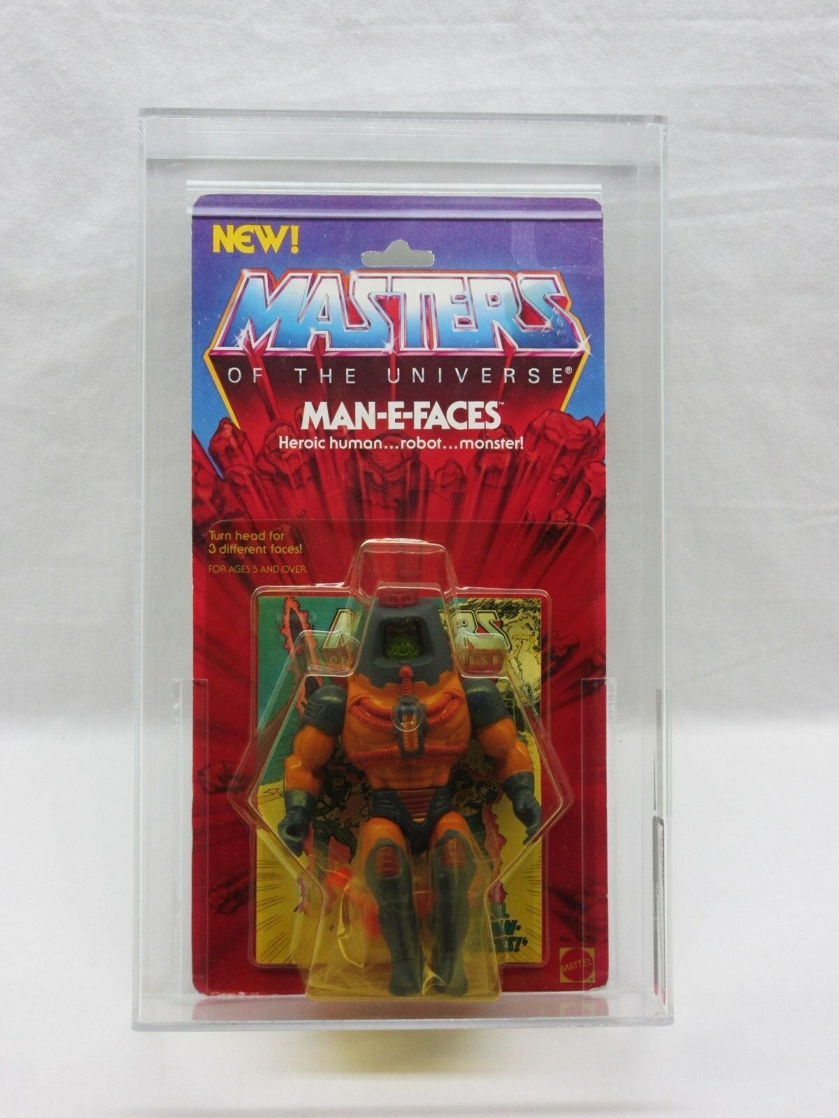 MOTU,VINTAGE,MAN-E-FACES,AFA 80,Masters of the Universe,MOC,SEALED,he man