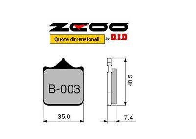 B003 EX ZCOO DID PASTIGLIE FRENO ANTERIORI CERAMICA APRILIA RSV NERA 1000 2004