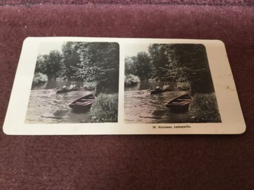 Vintage Stereoscopic Paper Slide Hannover Leinepartie