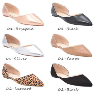 Women-039-s-Ballet-Flat-D-039-Orsay-Comfort-Light-Pointed-Toe-Slip-On-Casual-Shoes-NEW