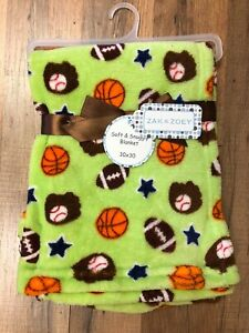 Zak And Zoey Soft Amp Snuggly Baby Blanket 30 Quot X 30 Quot Sports