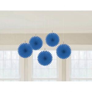 Details about 5 x Royal Blue Paper Fans Hanging Decorations Blue Party  Decorations