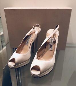 3daf837fabf Image is loading Jimmy-Choo-Bridal-Shoes-Ivory-36-1-2-