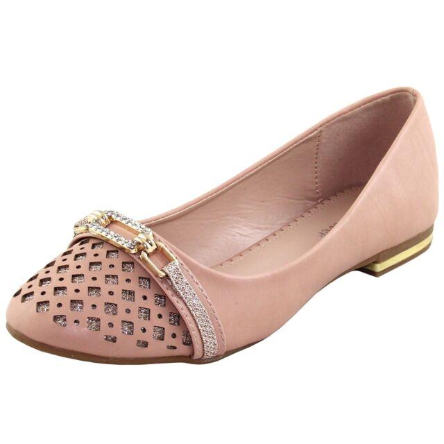 New women's shoes rhinestones ballet flats blink wedding prom summer nude beige