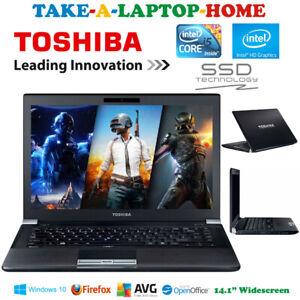 Slim-Toshiba-Tecra-Laptop-Gaming-GFX-i5-3-2GHz-SSD-Windows10-14-1-034-HDMI-USB-3-0