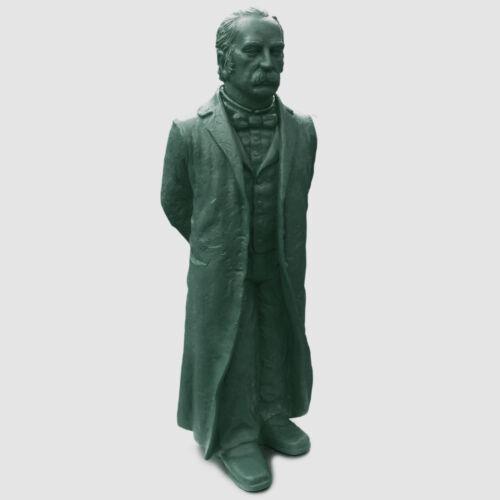 Theodor Fontane große Kunststoff-Standfigur Sculpture Ottmar Hörl Signaturpräg.