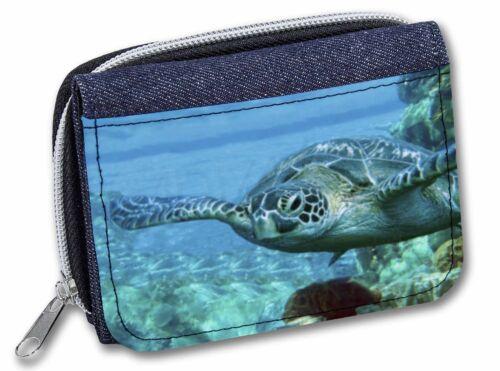 Turtle by Coral Girls//Ladies Denim Purse Wallet Christmas Gift Idea AF-T20JW