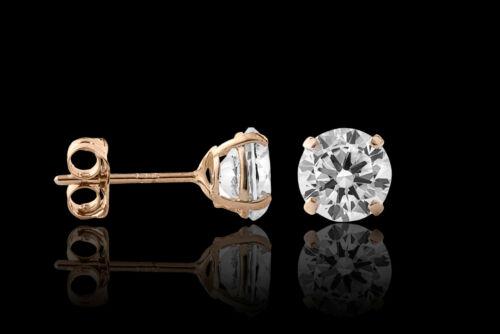 Regular Panier 2.00 Ct ronde créé diamant 14K or Jaune Clous d/'oreilles 6 mm
