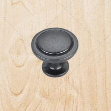 """Kitchen Cabinet Hardware Knobs kt960 Black Antique 1-1/4"""" Diameter"""
