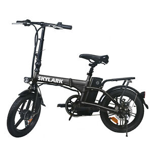 NAKTO 250W Folding Electric Bike 16'' 36V 10Ah Battery 15/Mph Collapsible E-Bike