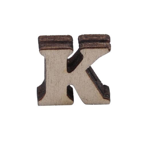 Letra del alfabeto A-Z de Madera número mixto 3D Scrapbooking Tarjetas Craft Decoración OO