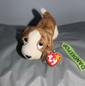 0377f6e772b TY Retired Beanie Baby Tracker Dog Retired Ty Rare With Error Tags ...