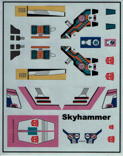 G1 Autobot Skyhammer repro Labels Transformers génération 1