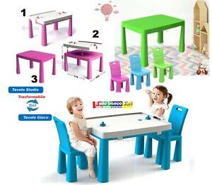 Tavolo Da Gioco E Studio Per Bambini Con 2 Sedie Tavolino 3in1 Con Hockey Ebay