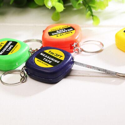 1M Tape Measure Travel Camping Keychain Ruler Mini Retractable Tape Tire Shape T