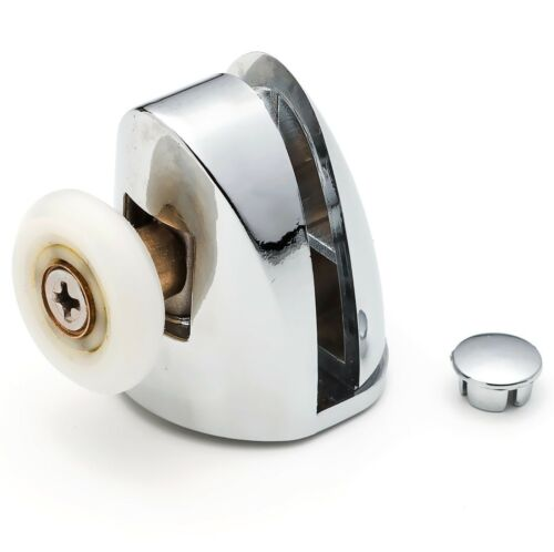 2 x Chromeplate Single Top//Up Shower Door Rollers//Runners 22mm wheels dia SS1