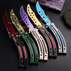 Blunt-Butterfly-Balisong-CS-GO-Praxis-Trainer-Training-Ubungsmesser-Messer-Tool