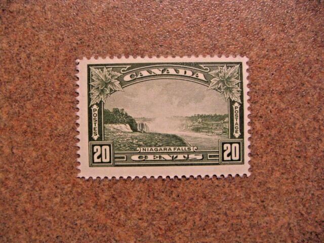 Canada 1935 #225 King Georges V 20c Olive Green Niagara Falls Mint VF Hinged