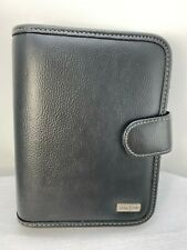 Franklin Covey Dayone Black 6 Ring Snap Close Organizer Planner 6x 75