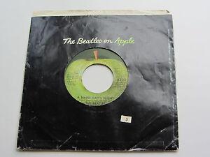 Los-Beatles-1970s-EE-UU-Apple-45-A-duro-dias-noche