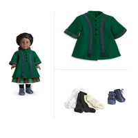 American Girl Addy Duo Winter Coat + Shoes & Socks For Dolls In Box Addy's