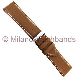 24mm-Speidel-Beige-Genuine-Calfskin-Contrast-Stitched-Mens-Band-Regular-5023-820