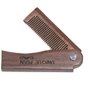 Pettine-pieghevole-tascabile-per-cura-barba-baffi-in-vero-legno-rosso-di-sandalo