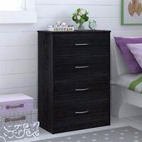 Bedroom Storage Dresser Chest 4 Drawer Modern Wood Furniture Assorted Colors