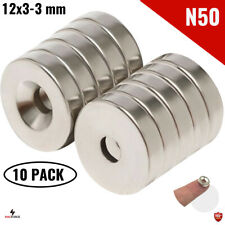 10pcs N50 12x3x3mm Hole Powerful Neodymium Magnet Neodimio Iman Countersunk Diy
