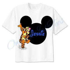 Roo OR Tigger Disney Mouse Ears Personalized Shirt. ONLY ONE
