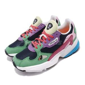 Details about adidas Originals Falcon W Navy Green Purple Muli Color Women Running Shoe CG6211