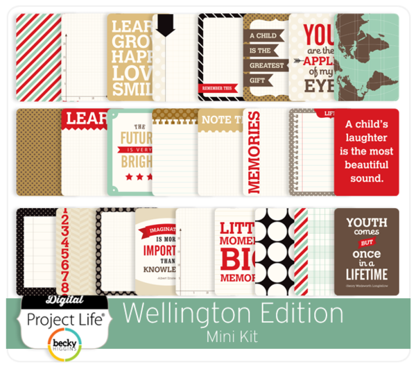 Becky Higgins Project Life Childhood Wellington 380047-Kit Mini