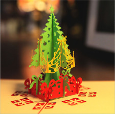National geographic christmas holiday greetings 18 cards envelopes 3d pop up paper card christmas tree xmas greeting holiday lovely birthday gift m4hsunfo