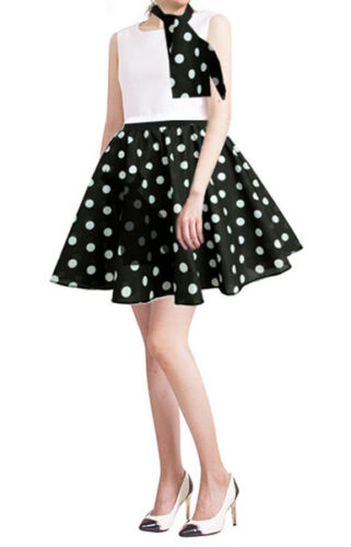 60s KLEE Ladies 17/'/'//21/'/' Polka Dot Rock N Roll Fancy Skirt /& Scarf Set 1950s