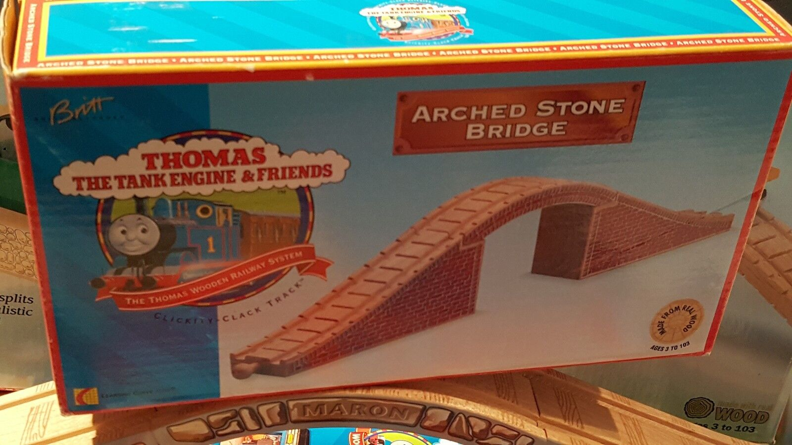 Extremely Rare 1996 Thomas The Tank Wooden Arched Stone Bridge Lc99301