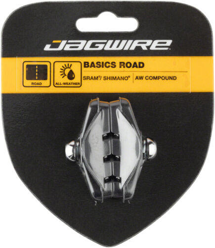 Jagwire Basics Road Molded Caliper Brake Pads Threaded All Weather Compound