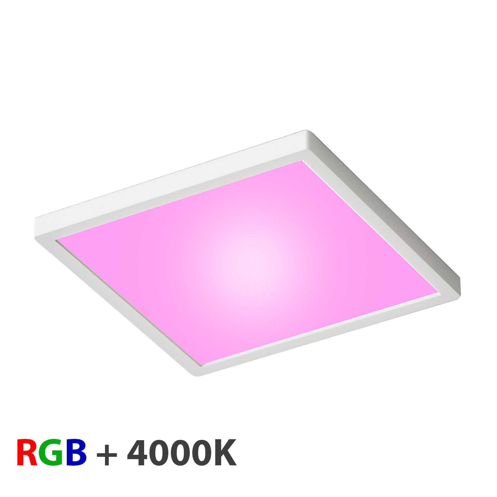 Plafoniera soffitto LED 55W luce RGB + 4000K RGBW cromoterapia dimmerabile 24V