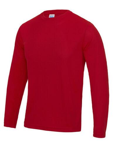 Herren Langarmshirt UV-Schutz Shirt Rundhals Quick Dry Gr.S-XXL 9 Farben JC002