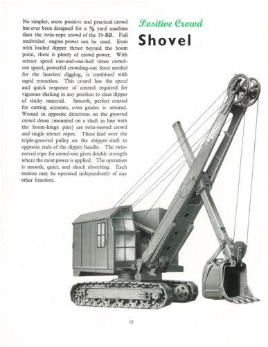Ruston Bucyrus 19RB Shovel Dragline Sales Book