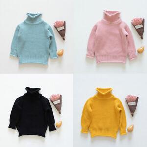 ab08affaf Image is loading Winter-Kids-Girls-Warm-Fleece-Turtleneck-Sweater-Shirt-