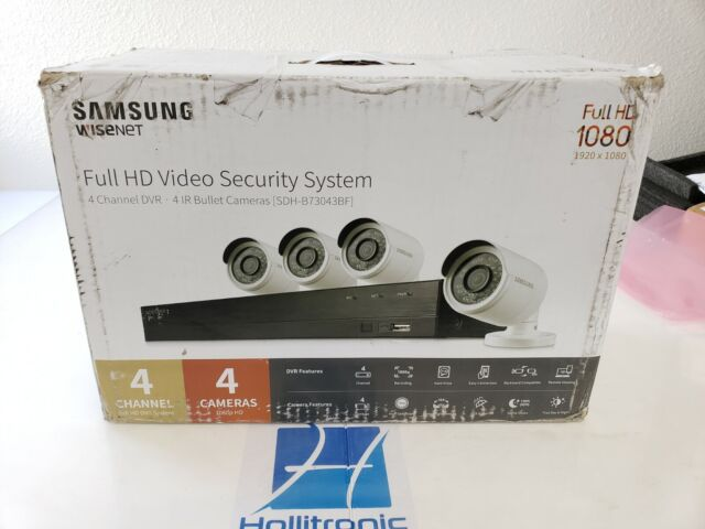 Samsung WiseNet 4-channel 1080p HD IP NVR Security System W/1tb HDD & 4  Cameras