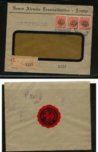 Peru-nice-registered-bank-cover-with-label-on-back-MS0219