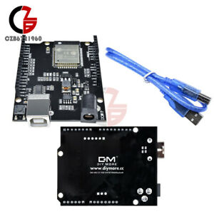 Details about ESP32 WiFi+Bluetooth+UNO WeMos D1 R32 4MB Flash CH340 Board  w/Cable for Arduino