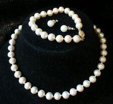 Vintage Marvella #Pearl #Necklace #Bracelet set Monet #Earrings #jewelry Lot EUC