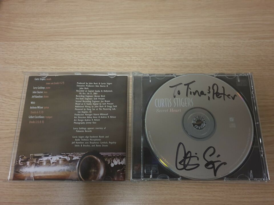 Autografer, CD: Curtis Stigers (Med original autograf)