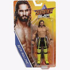 WWE Mattel BASIC SERIES SUMMERSLAM 2017 SETH ROLLINS SHIELD RAW RARE NEW IN HAND